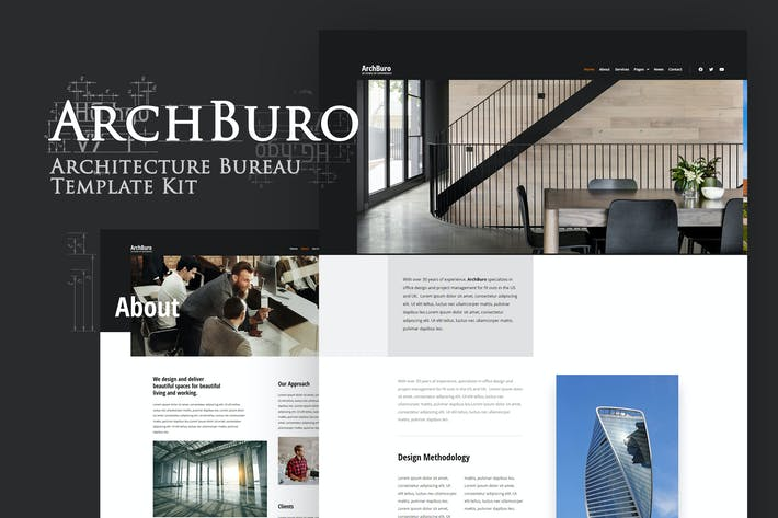 Cover Image For ArchBuro - Architecture Bureau Template Kit