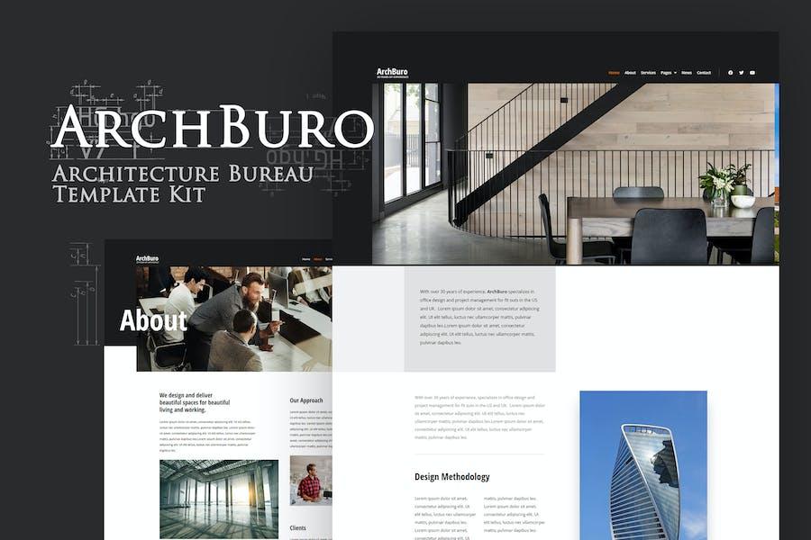 ArchBuro - Architecture Bureau Template Kit