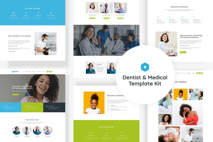 Thumbnail for Dentario - Dentist & Medical Elementor Template Kit