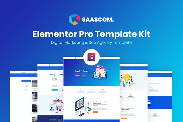 Thumbnail for Saascom - Digital Marketing & SEO Agency Template Kit
