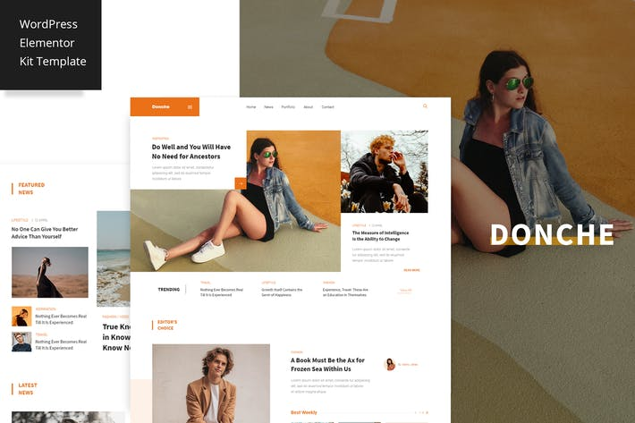 Thumbnail for Donche - News & Magazine Template Kit