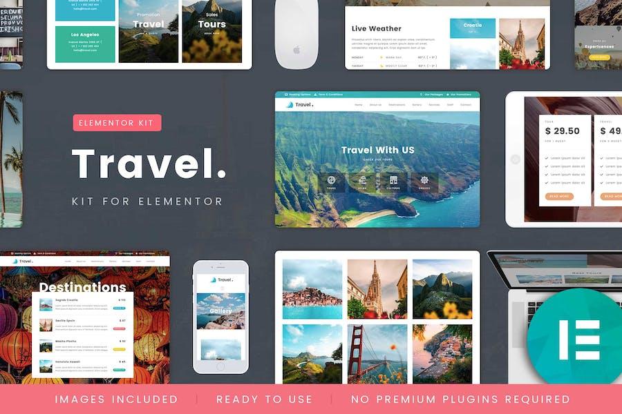 TravelTour - Kit de Plantilla de viaje y reserva