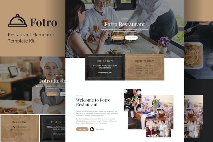 Thumbnail for Fotro - Food & Restaurant Elementor Template Kit