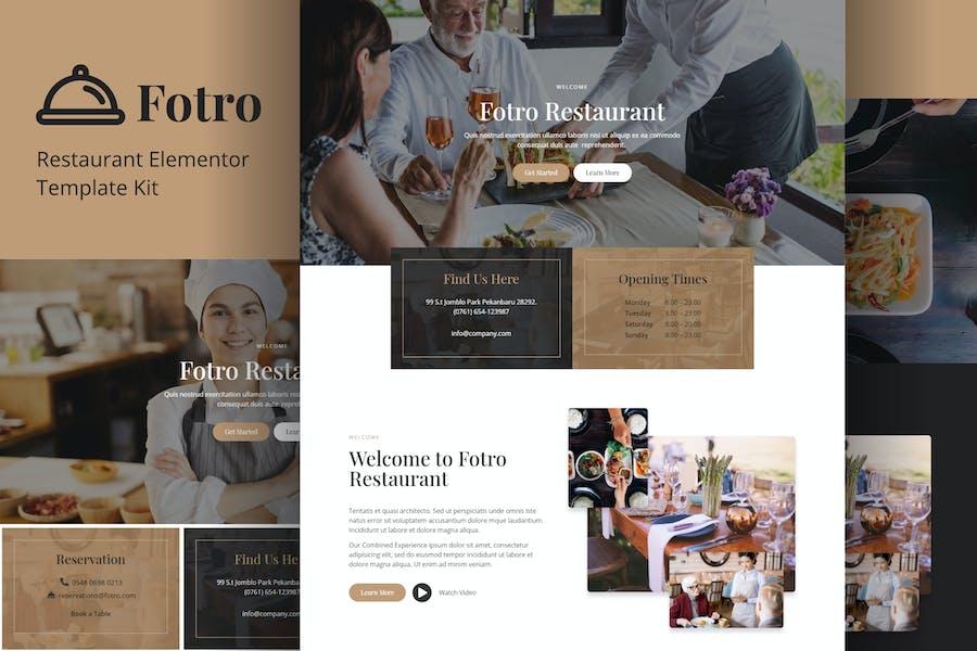 Fotro - Food & Restaurant Elementor Template Kit