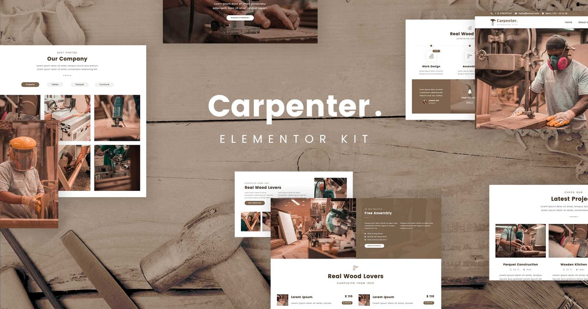 Download Ash - Carpenter Template Kit by planet-themes