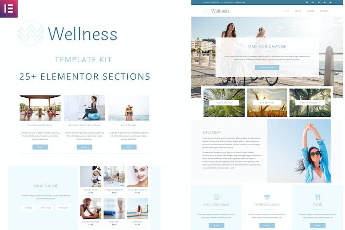 Thumbnail for Wellness - Elementor Template Kit
