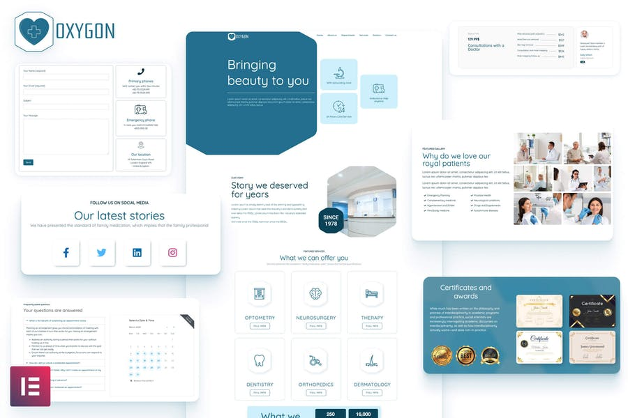 Oxygon - Healthcare Medical Clinic Template Kit