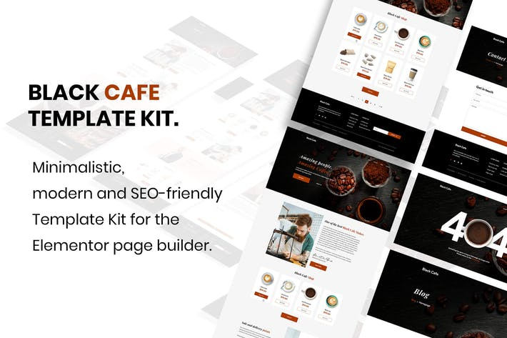 Thumbnail for Black Cafe - Restaurant & Cafe Template Kit