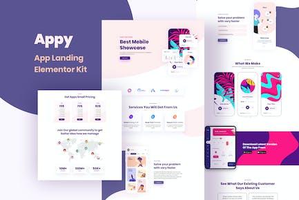 Appy - Kit de Plantilla de página de destino y ventas
