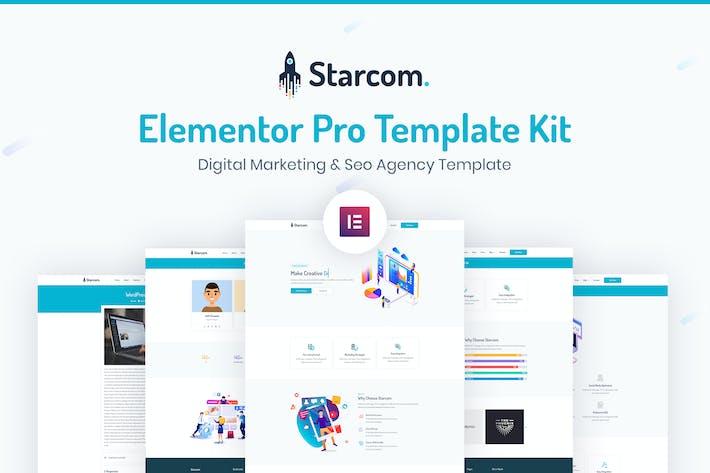 Thumbnail for Starcom - Saas & Startup Template Kit