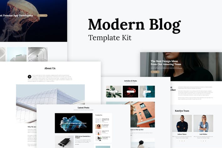 Thumbnail for Katelyn - Modern Blog Template Kit