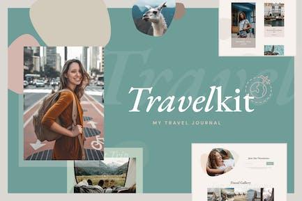 TravelKit - Journal & Blog Template Kit for Elementor