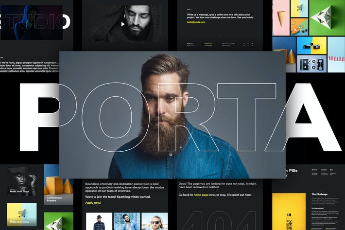 Thumbnail for Porta - Creative Portfolio Template Kit