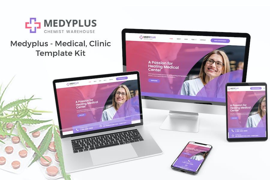 Medyplus - Medical, Klinik Vorlage -Set