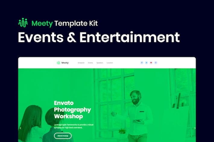 Thumbnail for Meety – Conference & Meetup Template for WordPress