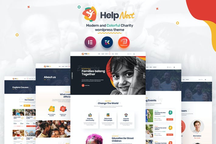 Thumbnail for Helpnest - Charity Elementor Template Kit
