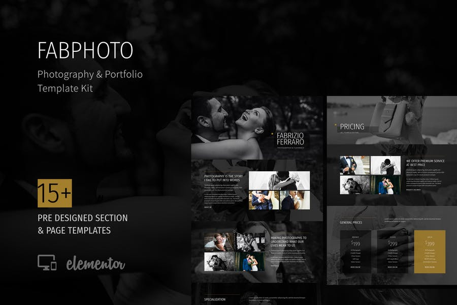 FabPhoto - Photography and Portfolio Template Kit