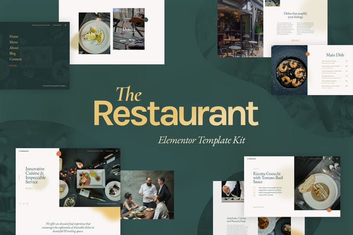 Cover Image For The Restaurant - Elementor Template Kit
