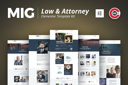 Mig - Recht & Rechtsanwalt Vorlage Kit