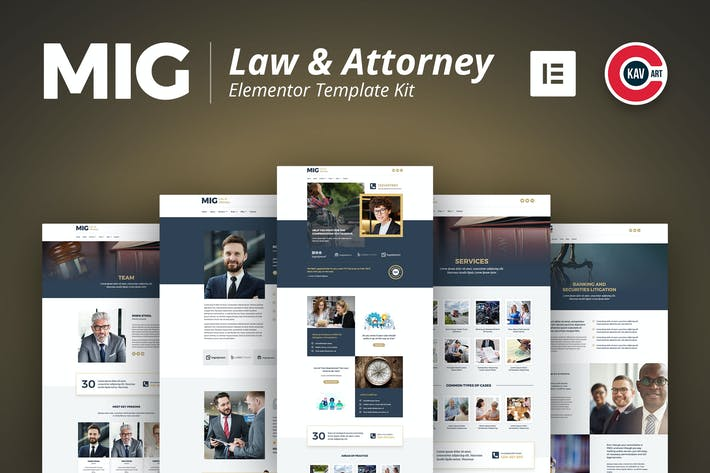 Thumbnail for Mig - Law & Attorney Template Kit