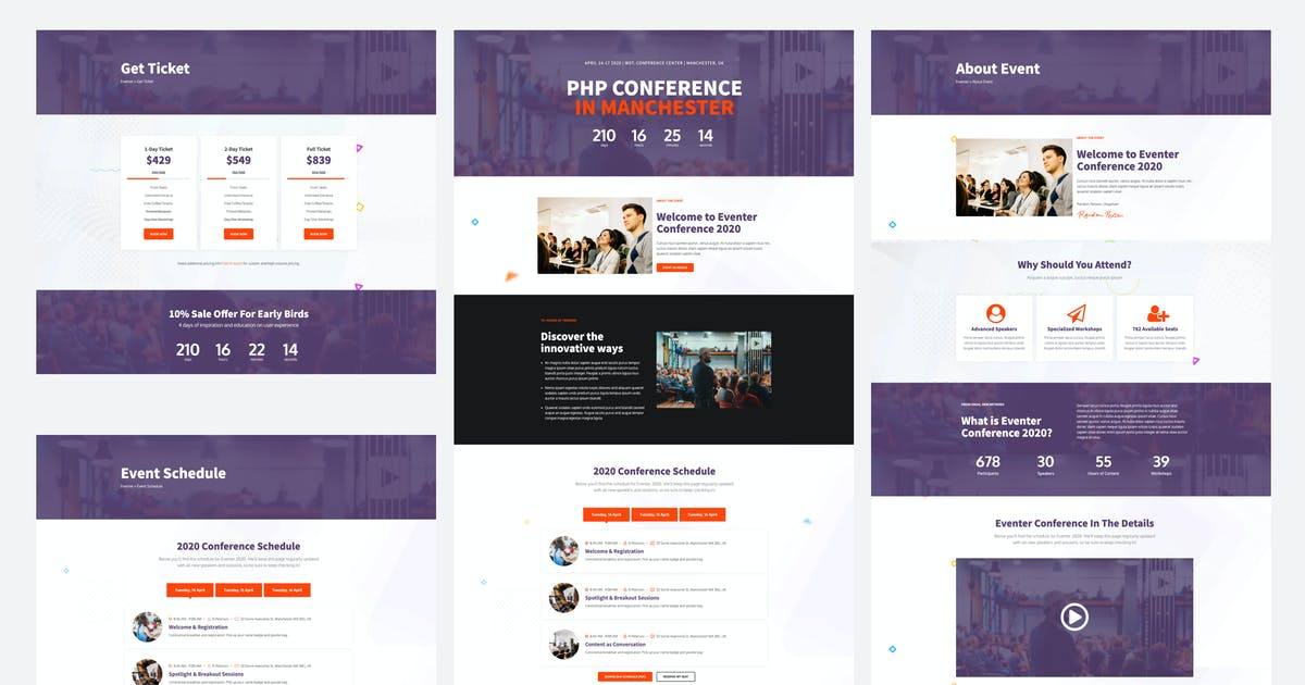 Download Eventer - Meetup & Conference Elementor Template Kit by Jthemes