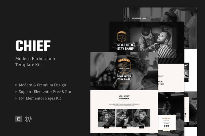 Thumbnail for Chief - Modern Barbershop Template Kit