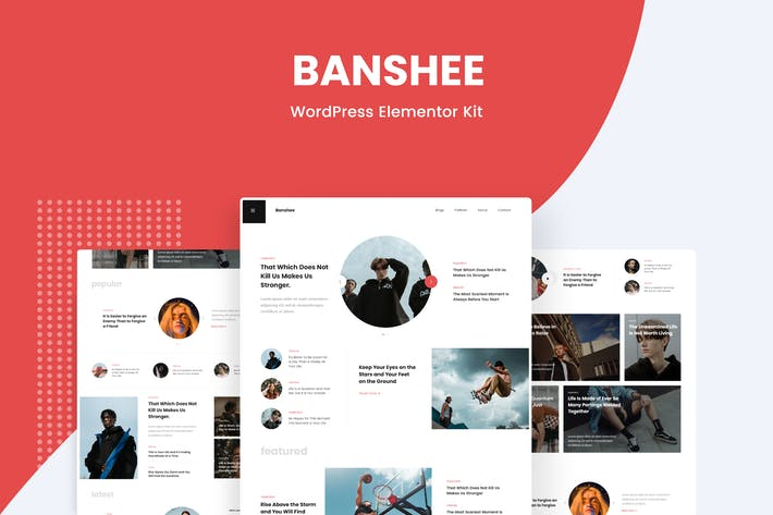 Thumbnail for Banshee - News & Magazine WordPress Elementor Template Kit