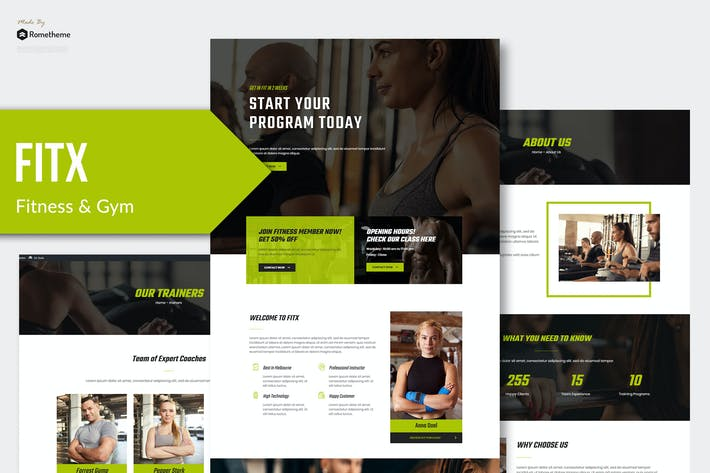 Thumbnail for Fitx - Fitness & Gym Template Kit