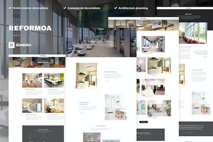 Reformoa - Architecture & Interior Design Elementor Template Kit