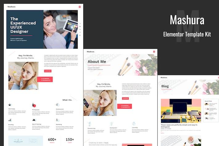 Thumbnail for Mashura - Portfolio Elementor Template Kit