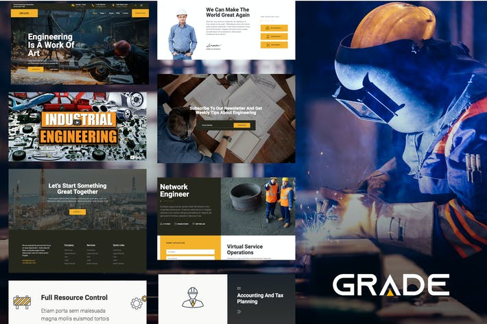 Thumbnail for Grade - Engineering & Industrial Template Kit