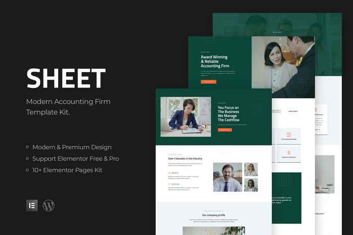 Thumbnail for Sheet - Modern Accounting Firm Template Kit