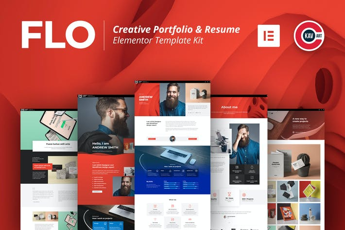 Thumbnail for FLO - Creative Portfolio & Resume Template Kit