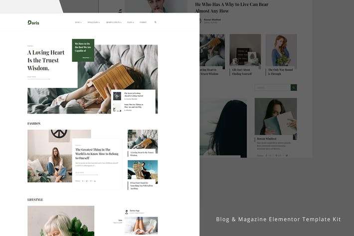 Thumbnail for Doris - Blog & Magazine Template Kit
