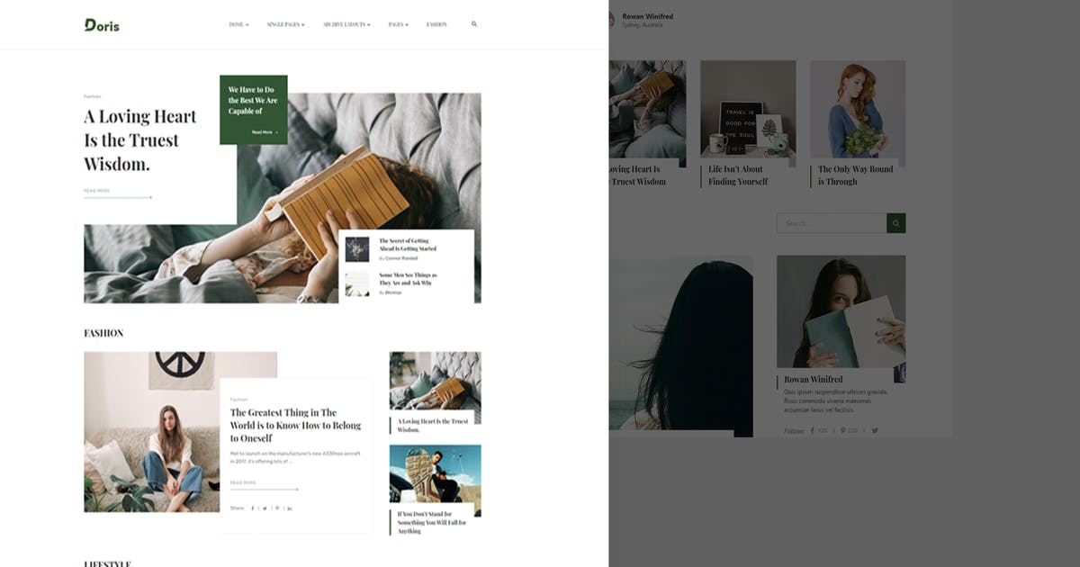 Download Doris - Blog & Magazine Template Kit by bkninja