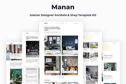Manan - Interior Designer Elementor Template Kit
