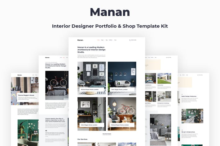 Thumbnail for Manan - Interior Designer Elementor Template Kit