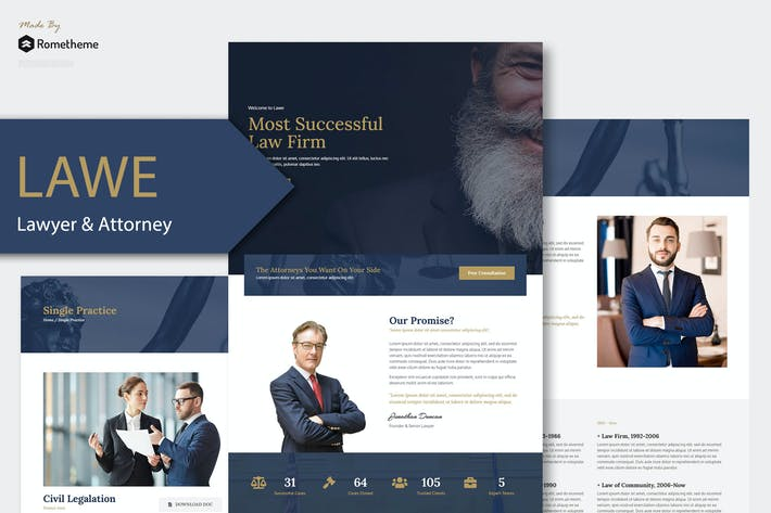 Thumbnail for LAWE - Lawyer and Attorney Template Kit