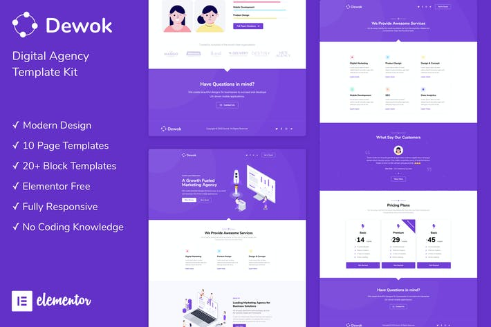 Thumbnail for Dewok - Digital Agency Template Kit