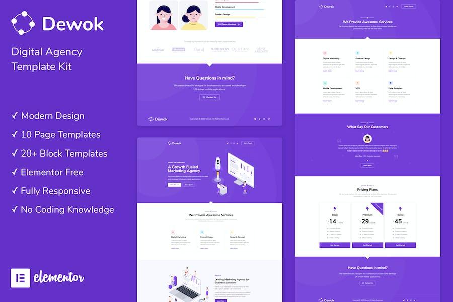 Dewok - Digital Agency Template Kit