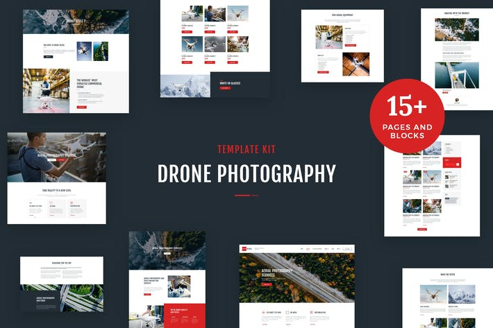 Thumbnail for Drone Media - Aerial Photography & Videography Elementor Template Kit