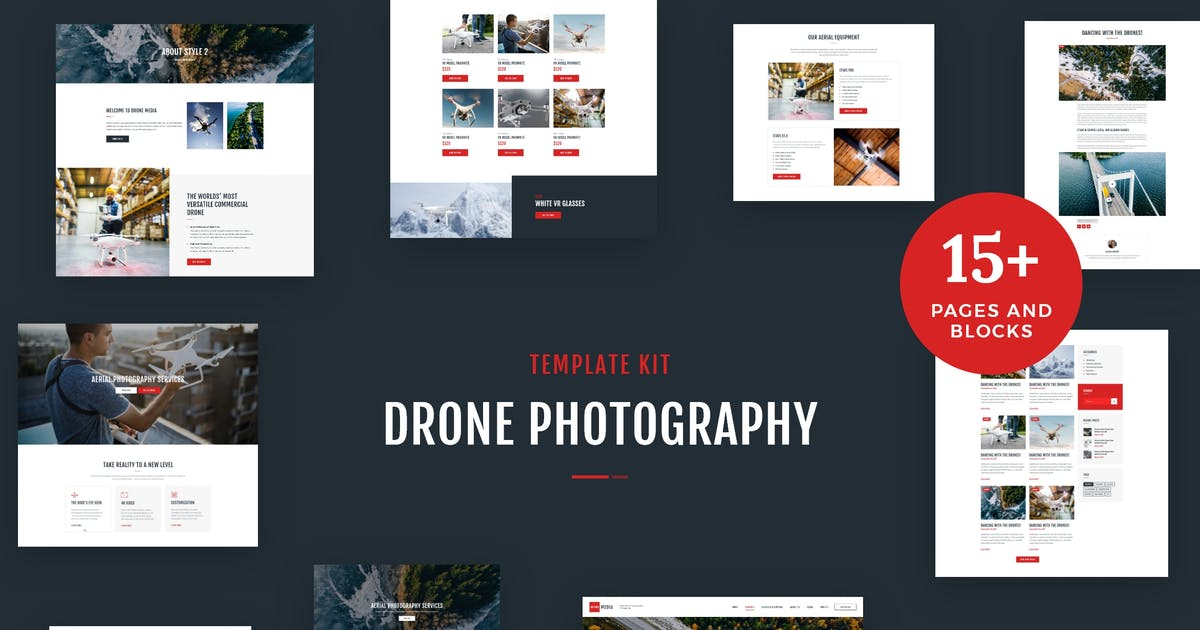 Download Drone Media - Aerial Photography & Videography Elementor Template Kit by AncoraThemes