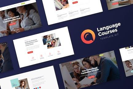 Translang -  Language Courses & Translation Services Elementor Template Kit