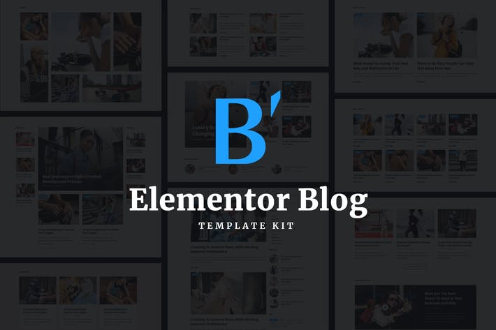 Cover Image For Blabber - Modern Blog & Magazine Elementor Template Kit