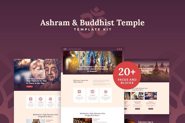 Thumbnail for Vihara - Ashram & Oriental Buddhist Temple Elementor Template Kit