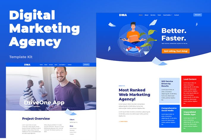 Thumbnail for DMA - Digital Marketing Agency Template Kit