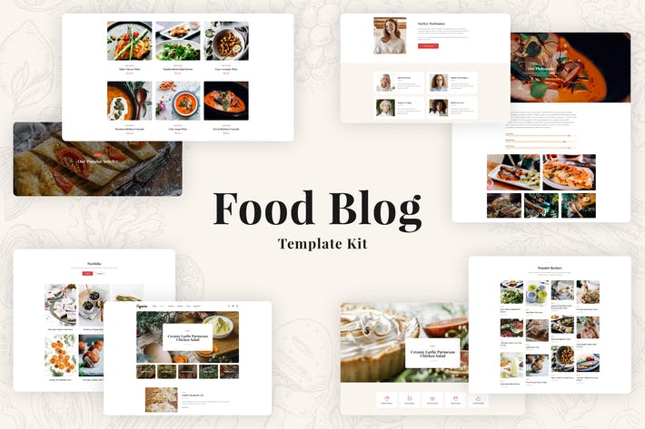 Thumbnail for Especio - Food Blog Elementor Template Kit