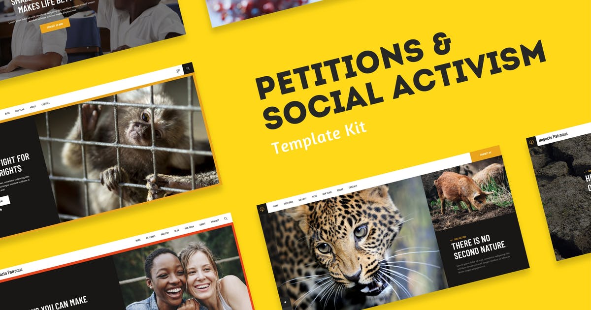 Download Impacto Patronus - Petitions & Social Activism Template Kit by axiomthemes