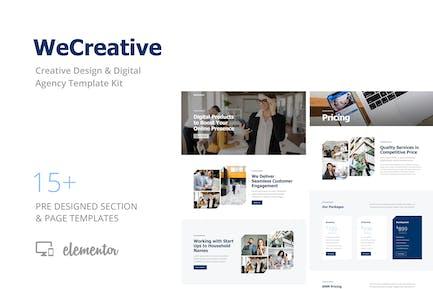 WeCreative - Vorlage Kit für digitale Agentur