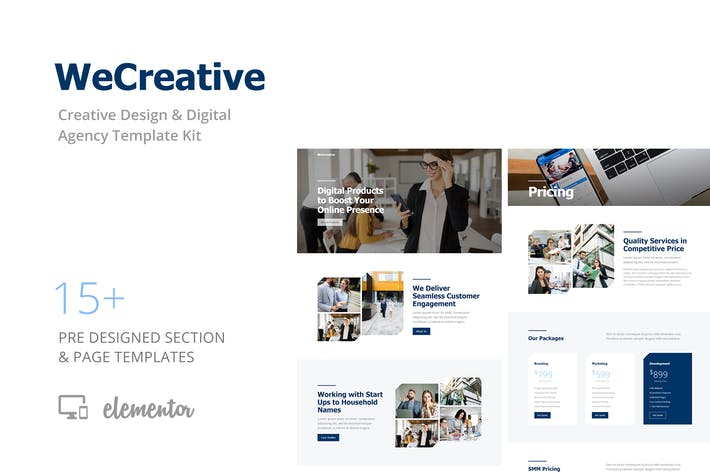 Thumbnail for WeCreative - Digital Agency Template Kit